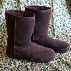 Sketchers Suede Fur Lined Boots sz 9